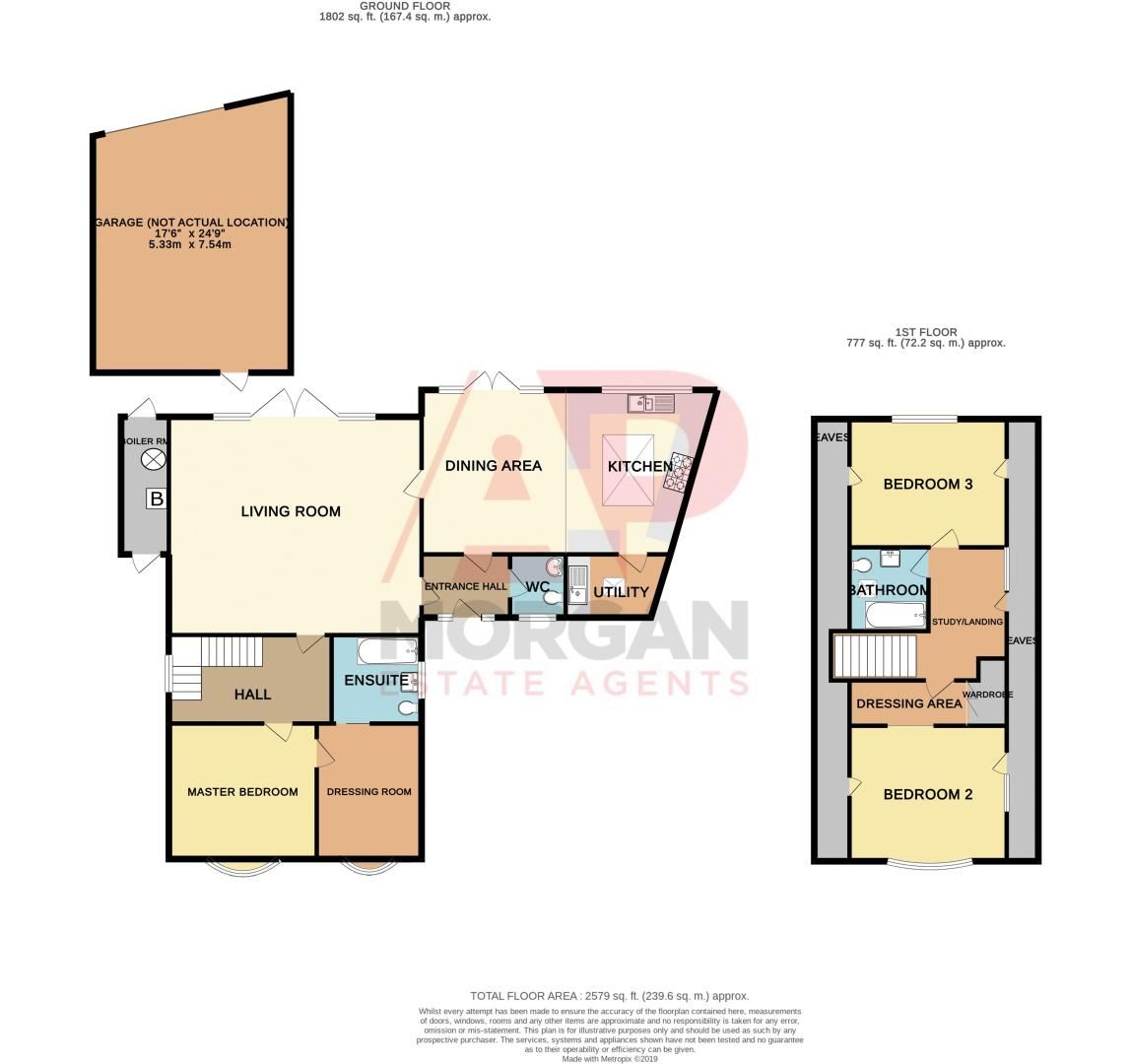 3 bed house for sale in Newfield Crescent - Property Floorplan