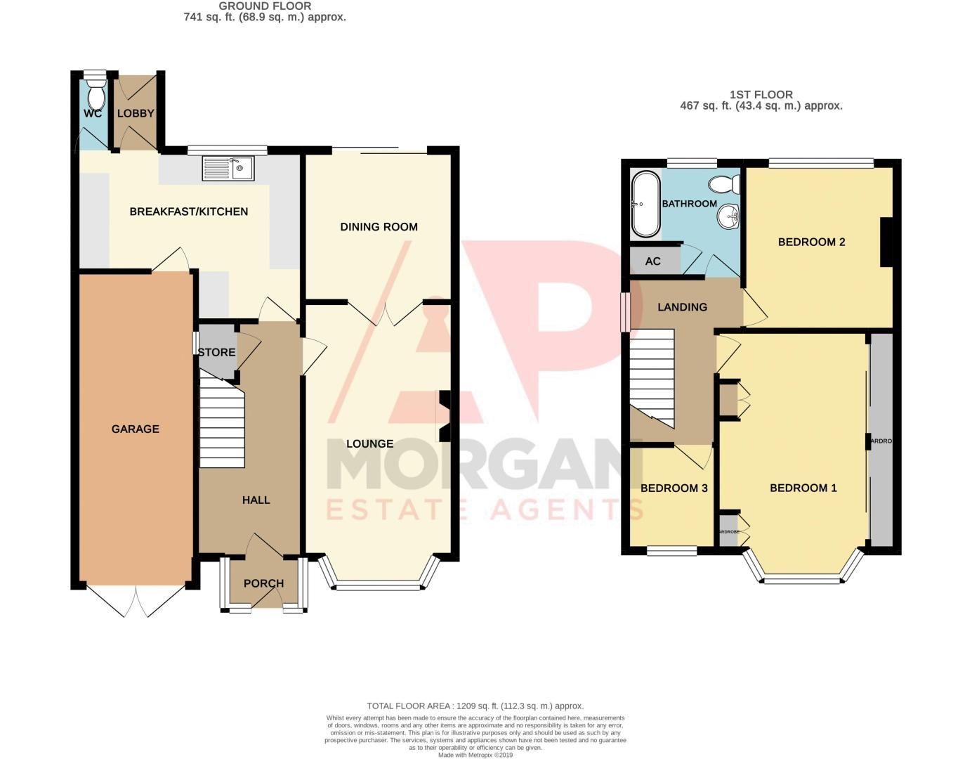 3 bed house for sale in Longmoor Road - Property Floorplan