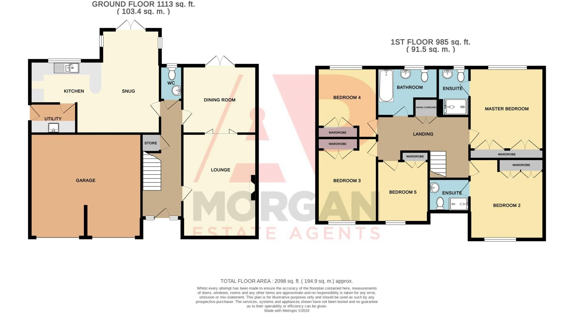 5 bed house for sale in Hagley Road - Property Floorplan