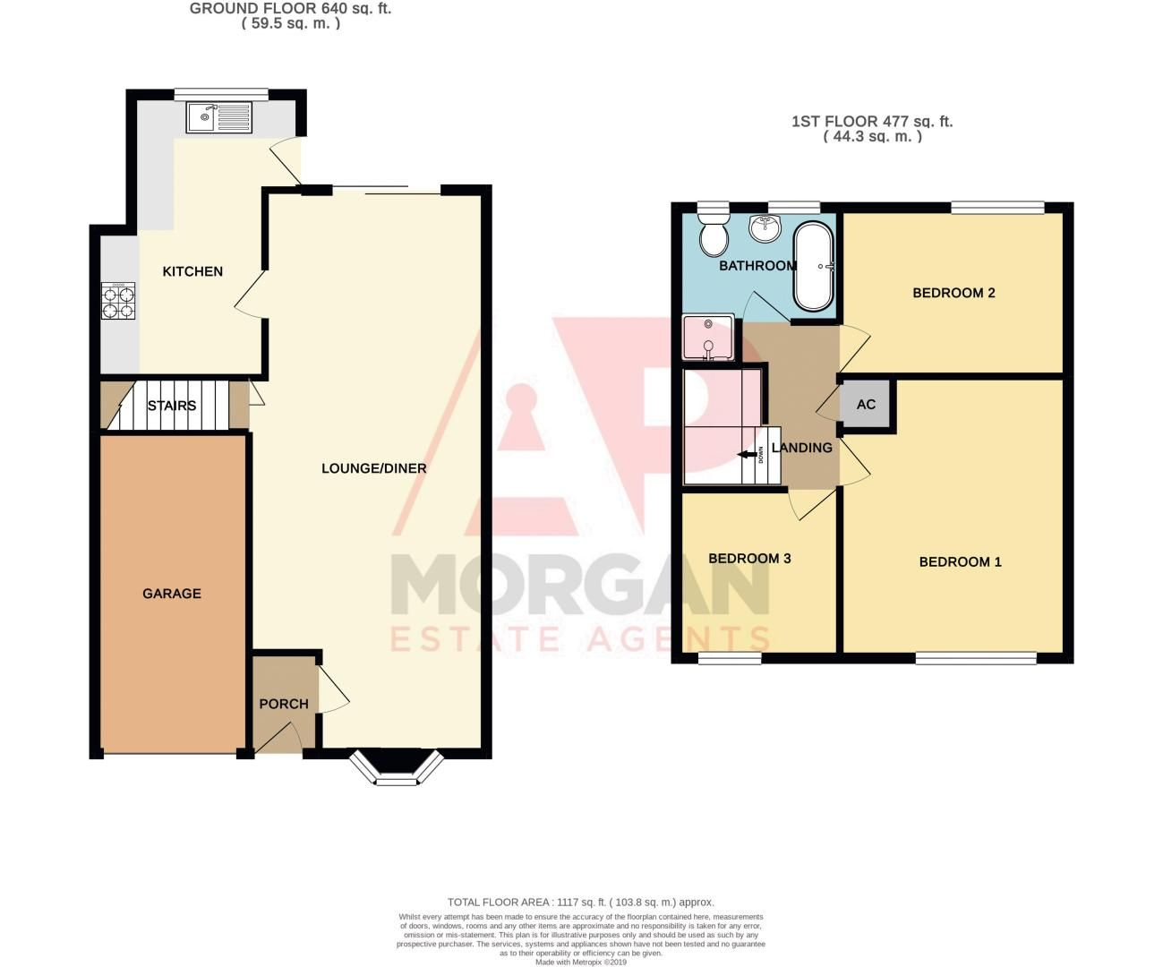 3 bed house for sale in Long Mynd - Property Floorplan