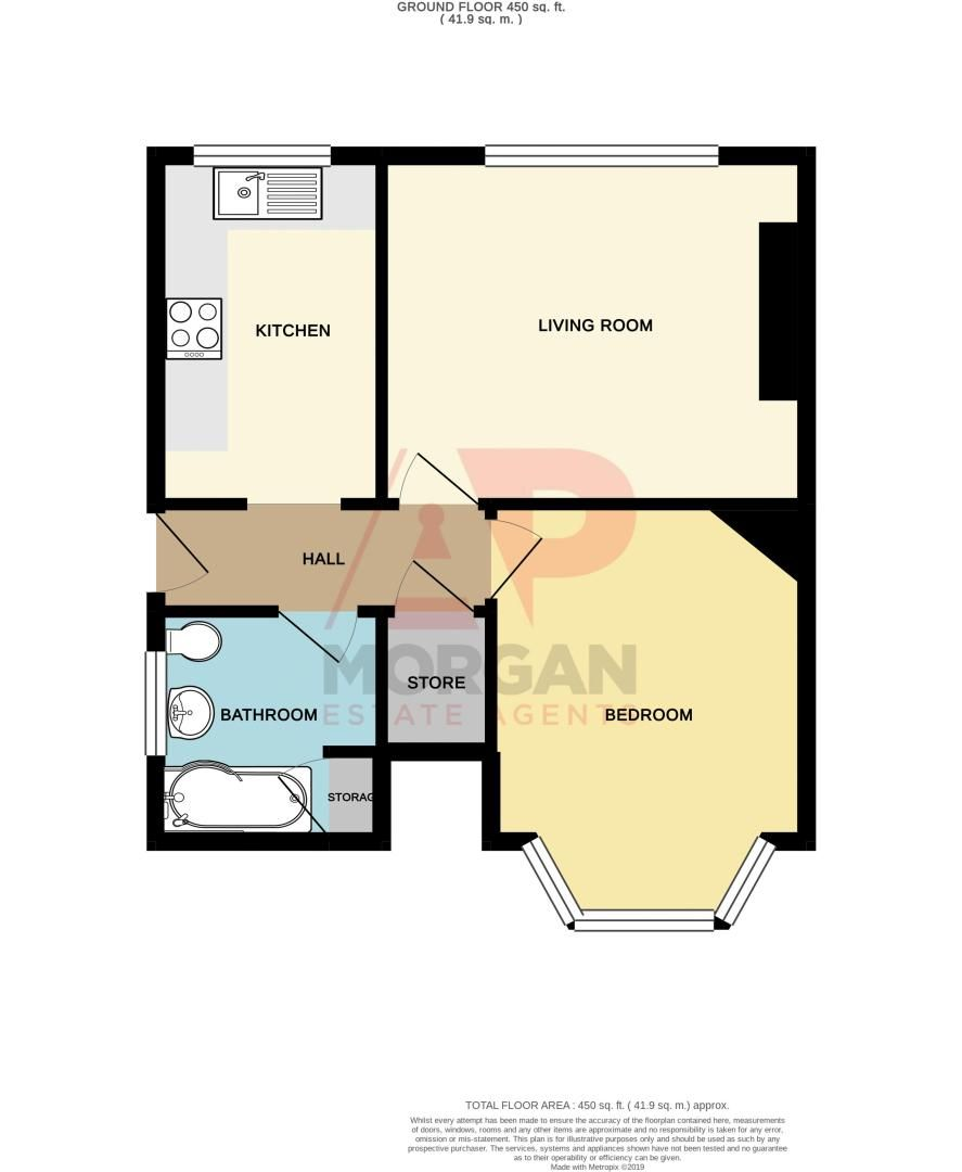 1 bed flat for sale in Oldbury Road - Property Floorplan