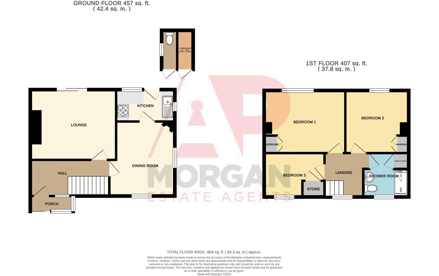 3 bed house for sale in Hanover Road - Property Floorplan