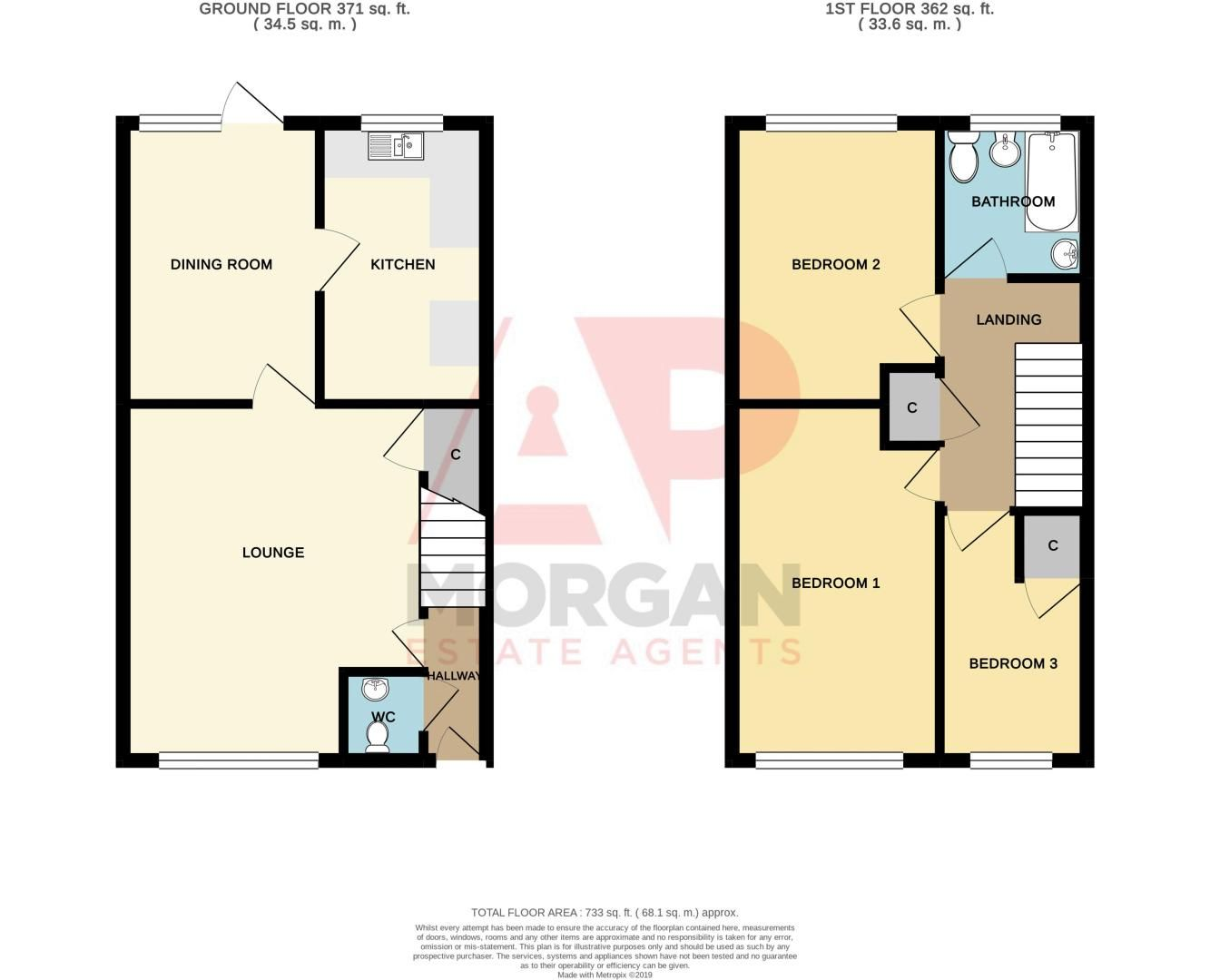 3 bed house for sale in Beecher Place - Property Floorplan