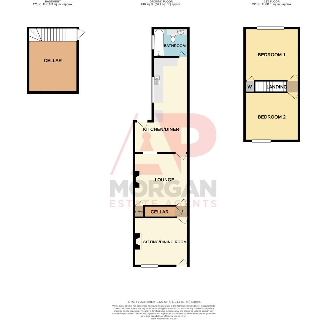 2 bed house for sale in Ladysmith Road - Property Floorplan