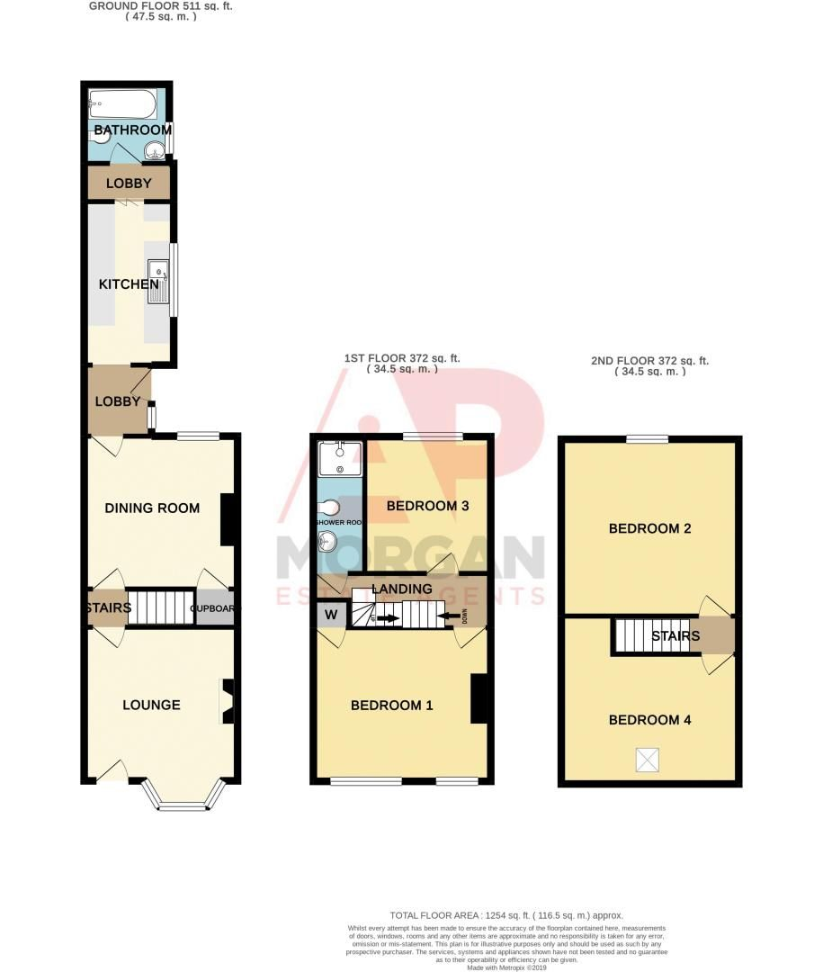 4 bed house for sale in Mount Pleasant - Property Floorplan