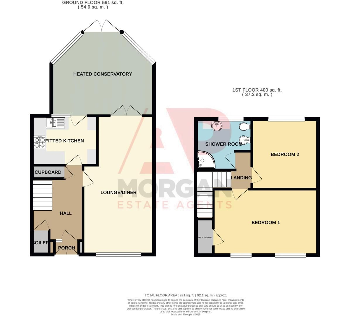 2 bed house for sale in New Pool Road - Property Floorplan