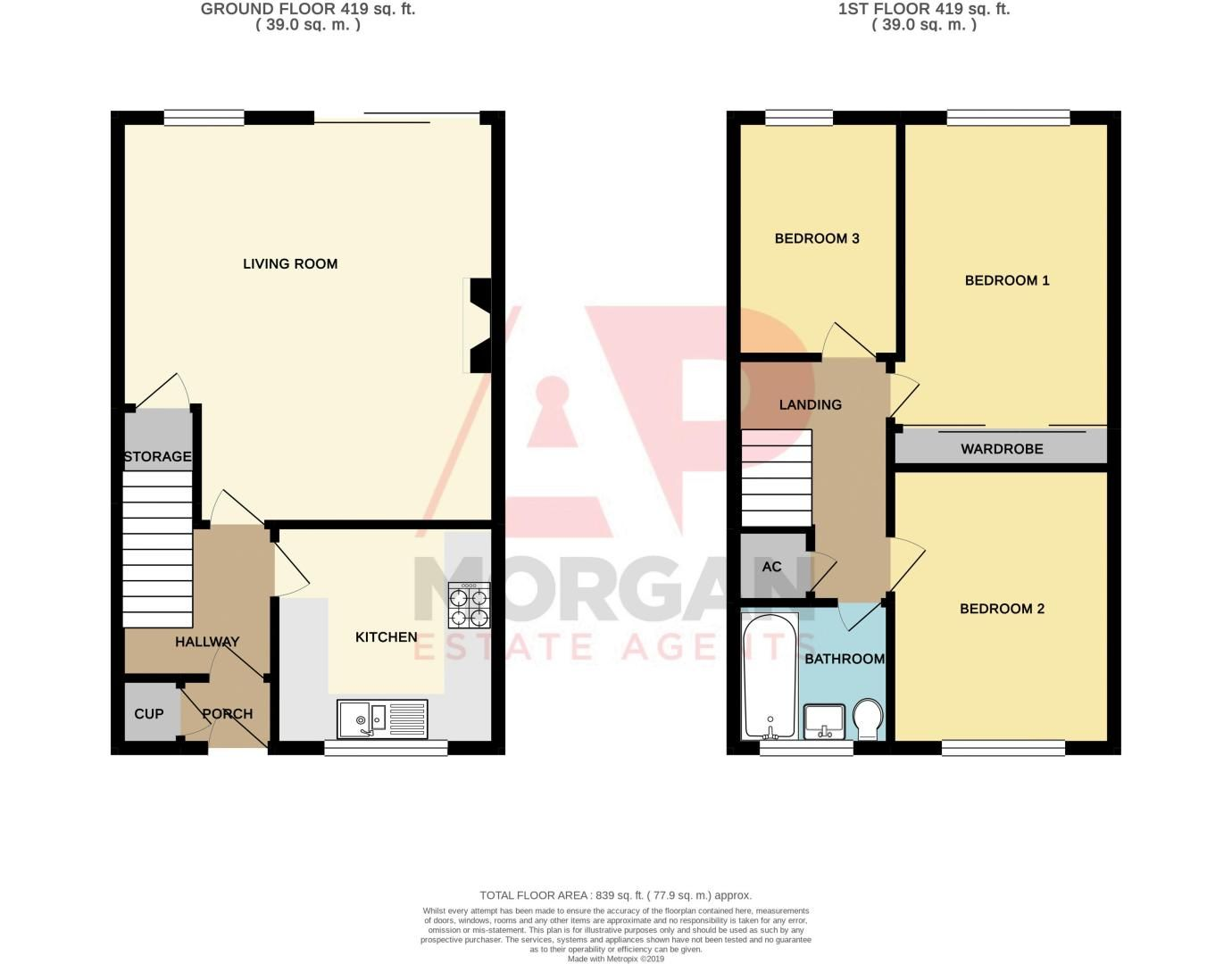 3 bed house for sale in Barrow Close - Property Floorplan