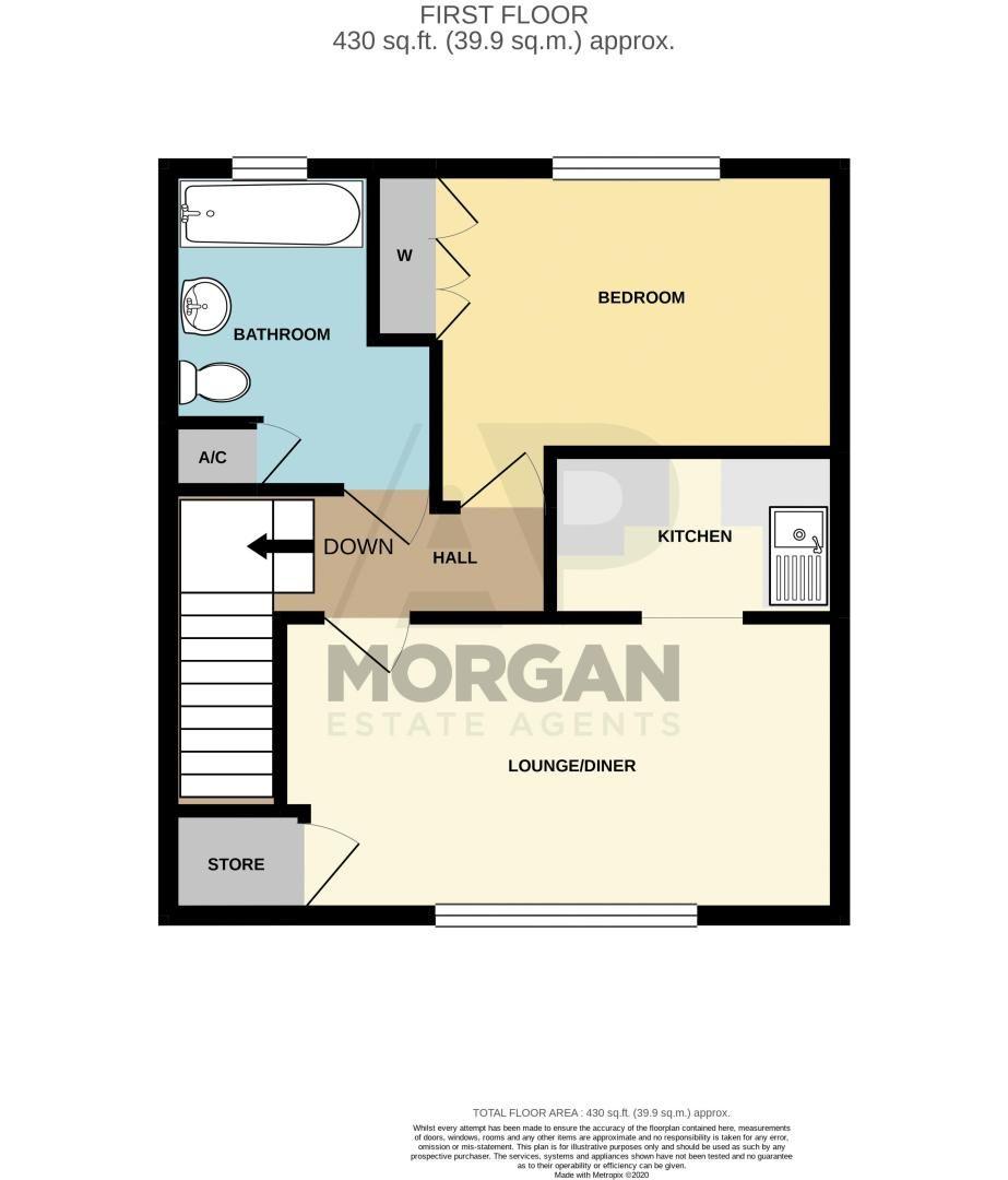 1 bed  for sale in Housman Park - Property Floorplan