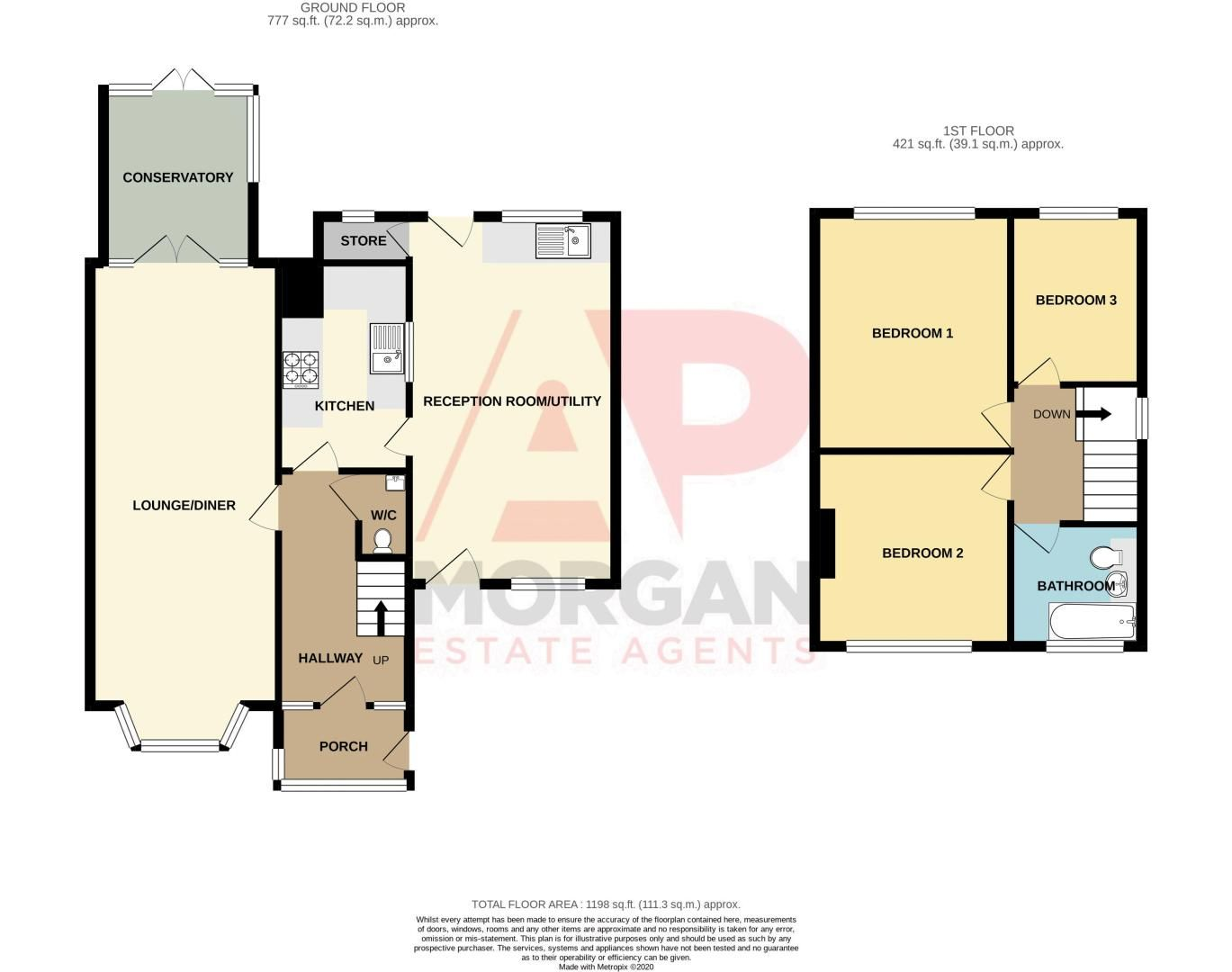 3 bed house for sale in Birmingham Road - Property Floorplan