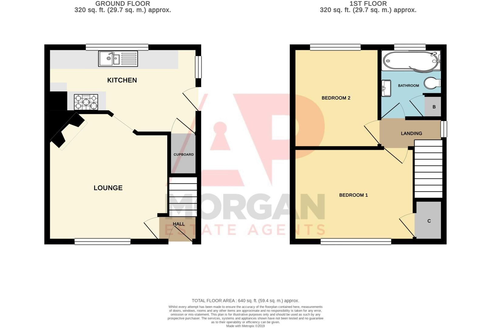 2 bed house for sale in Cradley Road - Property Floorplan