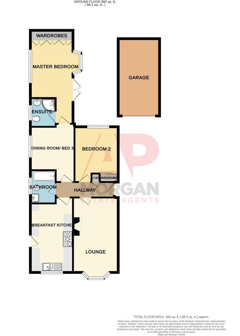 2 bed bungalow for sale in Fernwood Close - Property Floorplan