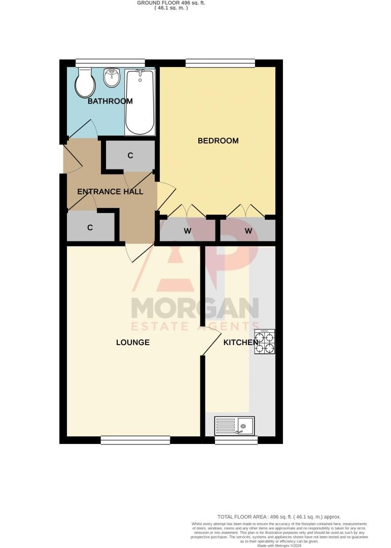 1 bed flat for sale in Netherend Lane - Property Floorplan