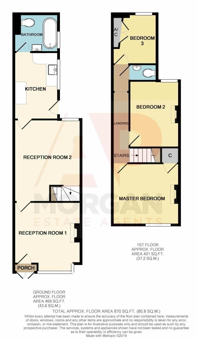3 bed house for sale in Coronation Terrace - Property Floorplan
