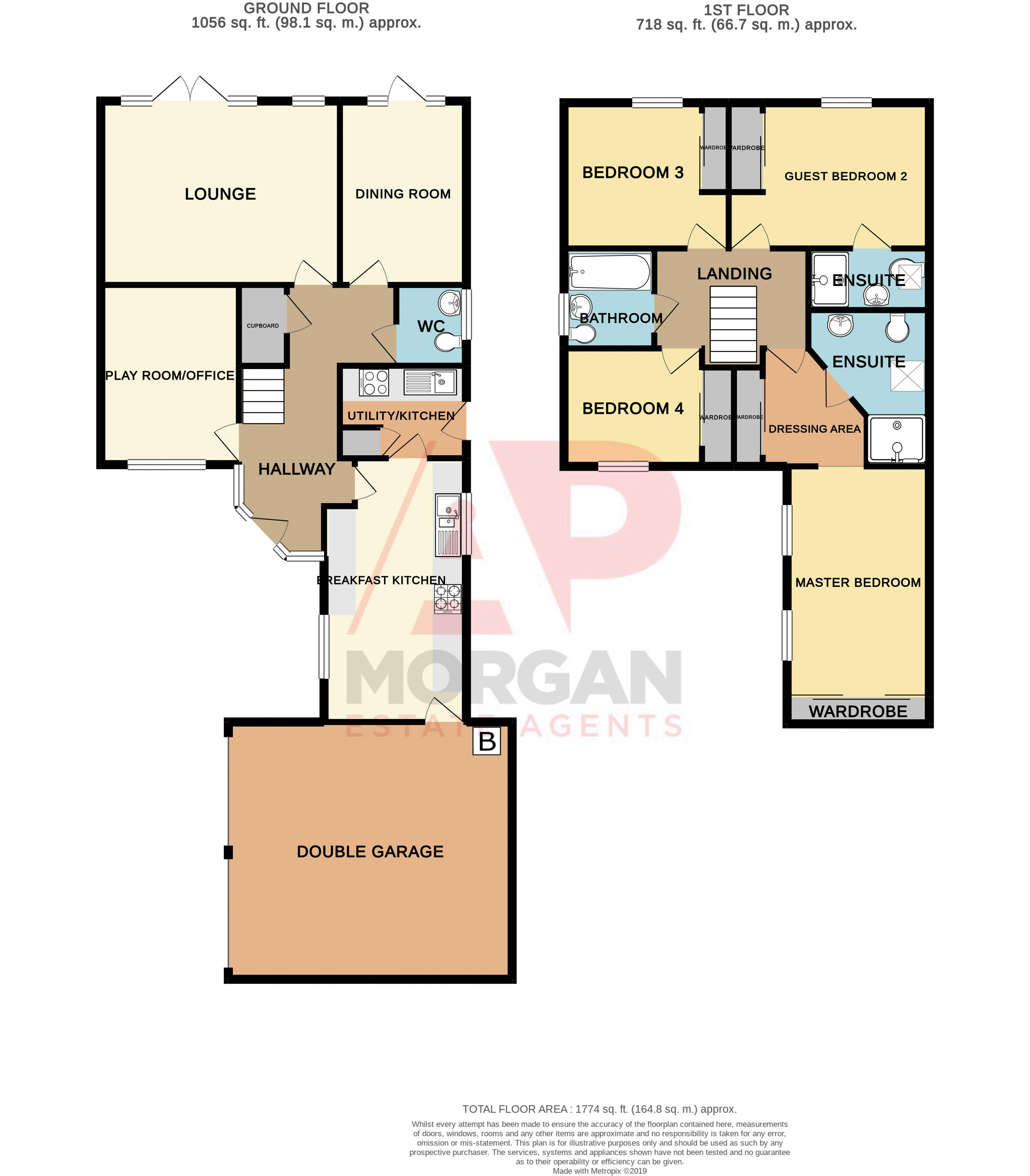 4 bed house for sale in Fleetwood Close - Property Floorplan