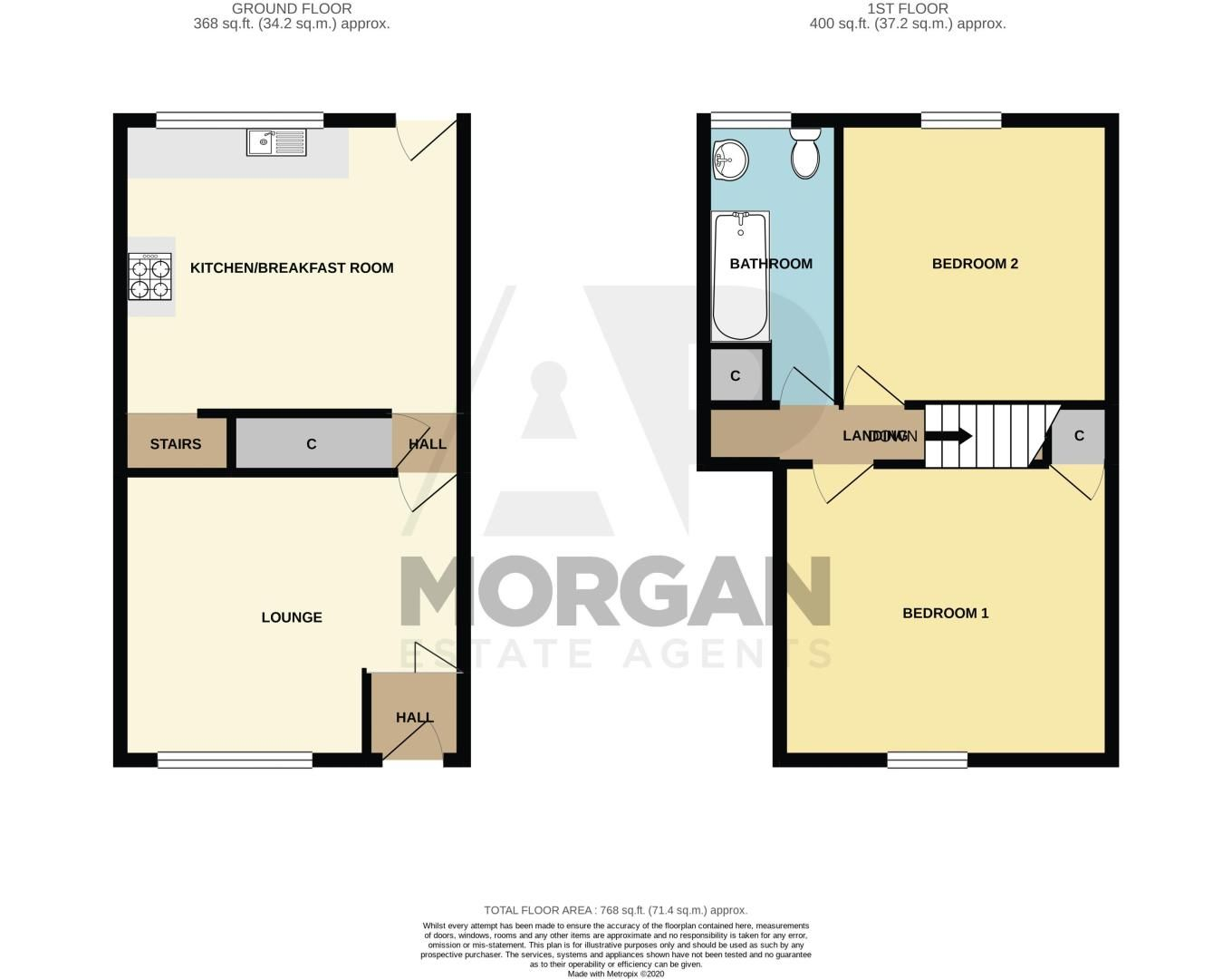 2 bed house for sale in Laurel Lane - Property Floorplan