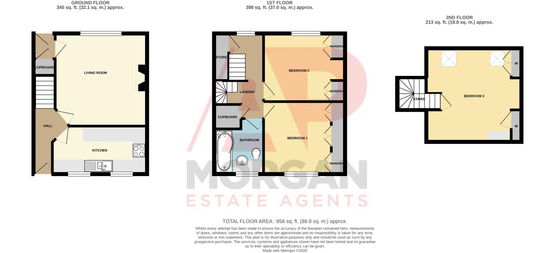 3 bed house for sale in Grange Road - Property Floorplan