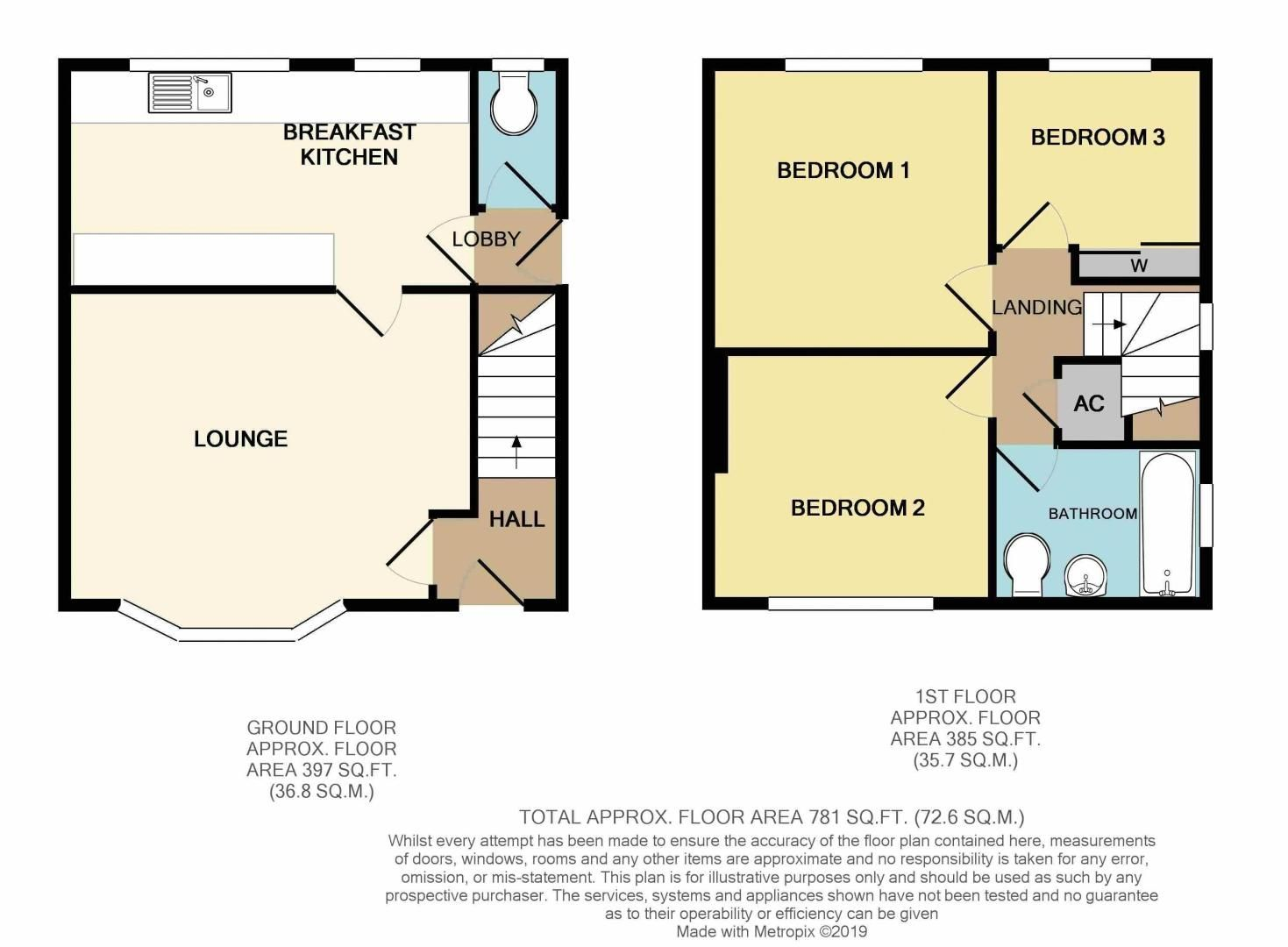 3 bed house for sale in King George Close - Property Floorplan