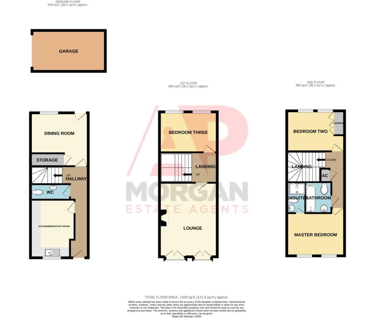 3 bed terraced for sale in Pastorale Road, Oakalls, Bromsgrove - Property Floorplan