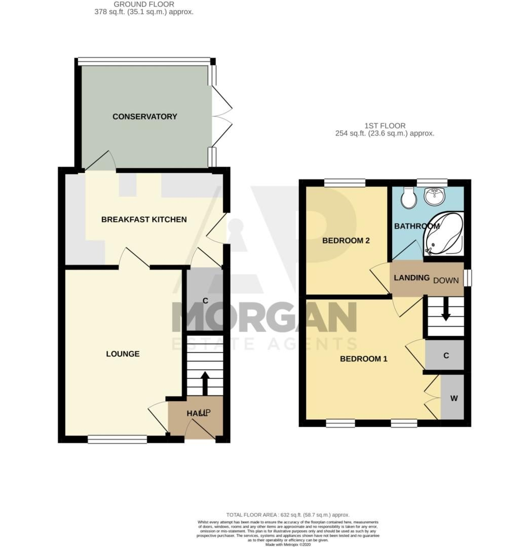 2 bed semi-detached for sale in Brayford Avenue, Brierley Hill - Property Floorplan