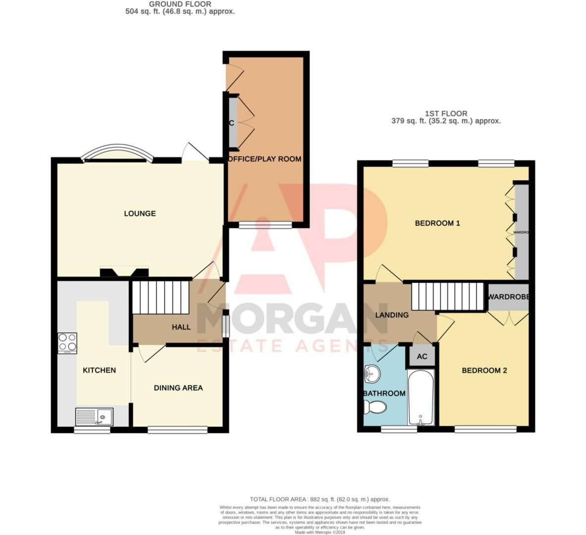 2 bed semi-detached for sale in Woburn Drive, Halesowen - Property Floorplan