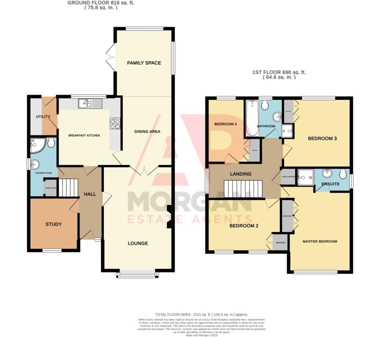 4 bed detached for sale in Harris Close, Greenlands - Property Floorplan