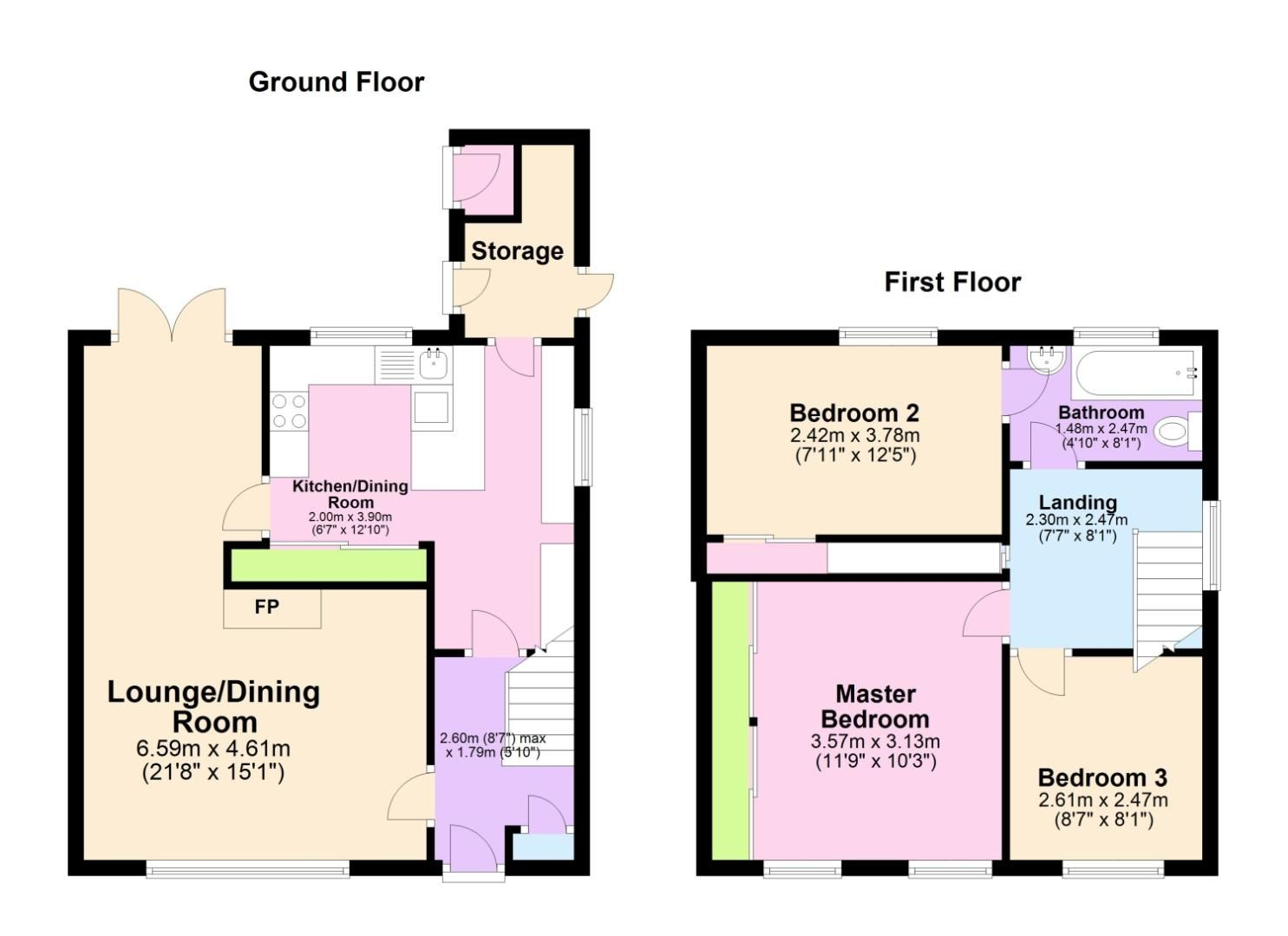 3 bed semi-detached for sale in Shepley Road, Rednal - Property Floorplan