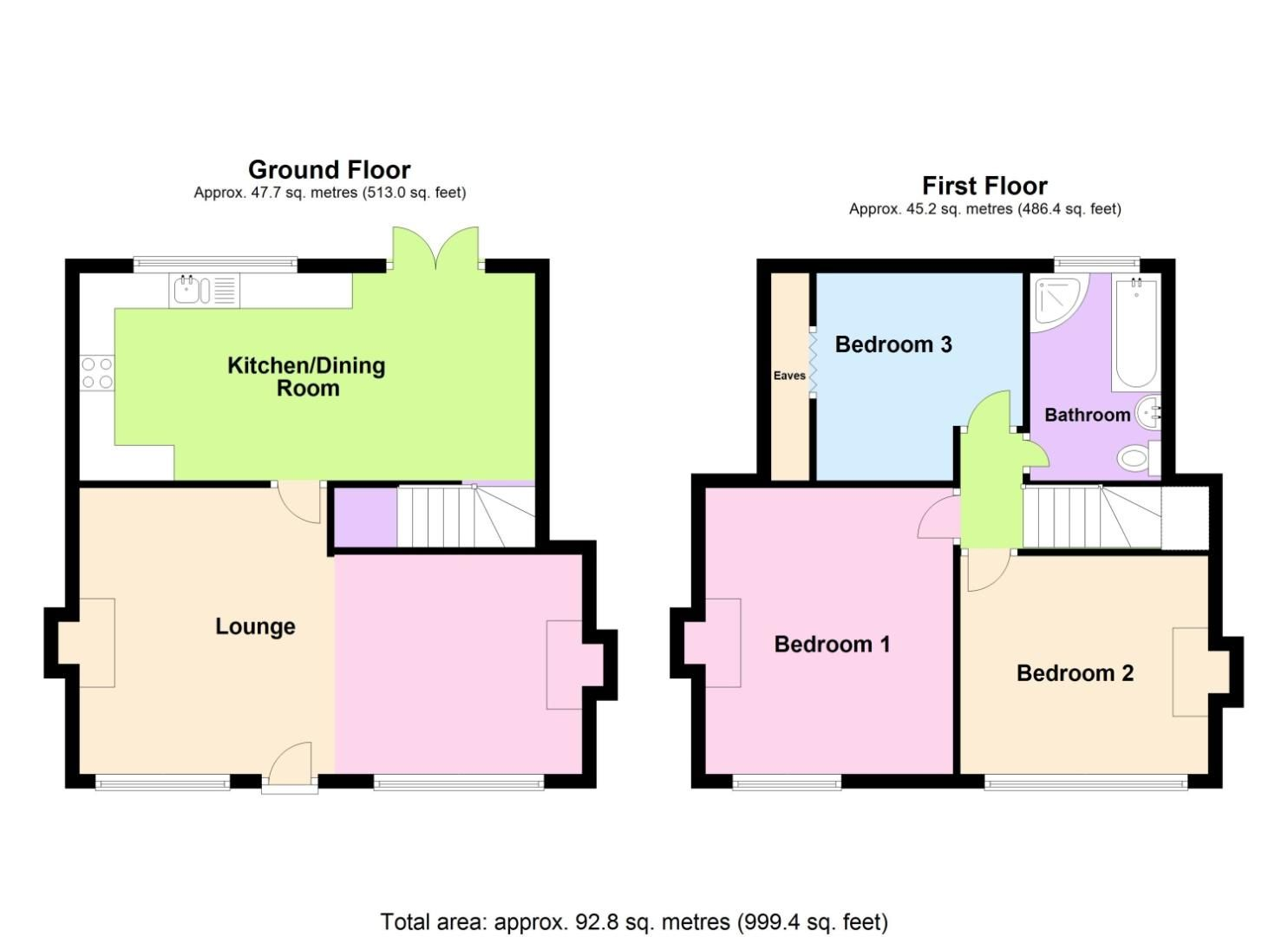 3 bed detached for sale in Belmont Road, Wollescote - Property Floorplan