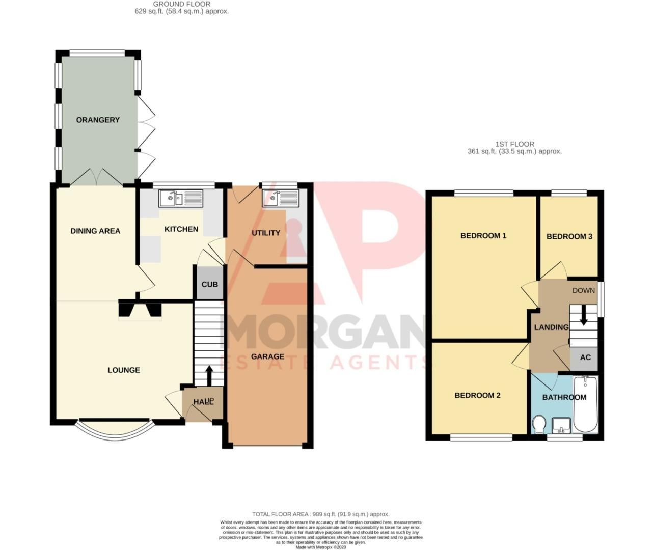 3 bed link-detached-house for sale in Nottingham Way, Brierley Hill - Property Floorplan