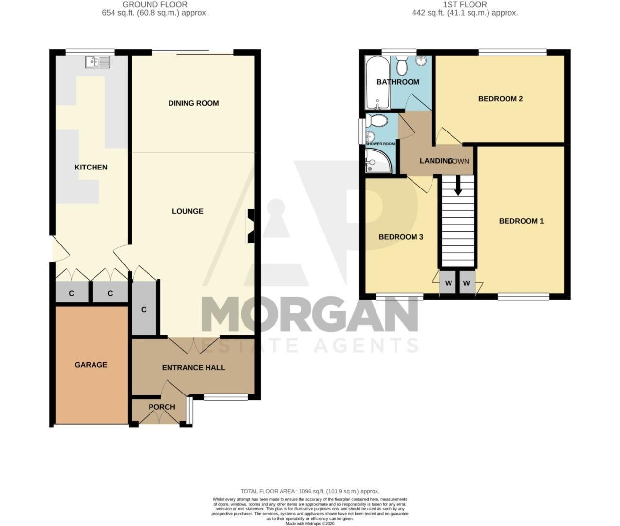 3 bed detached for sale in Clyde Avenue, Halesowen - Property Floorplan
