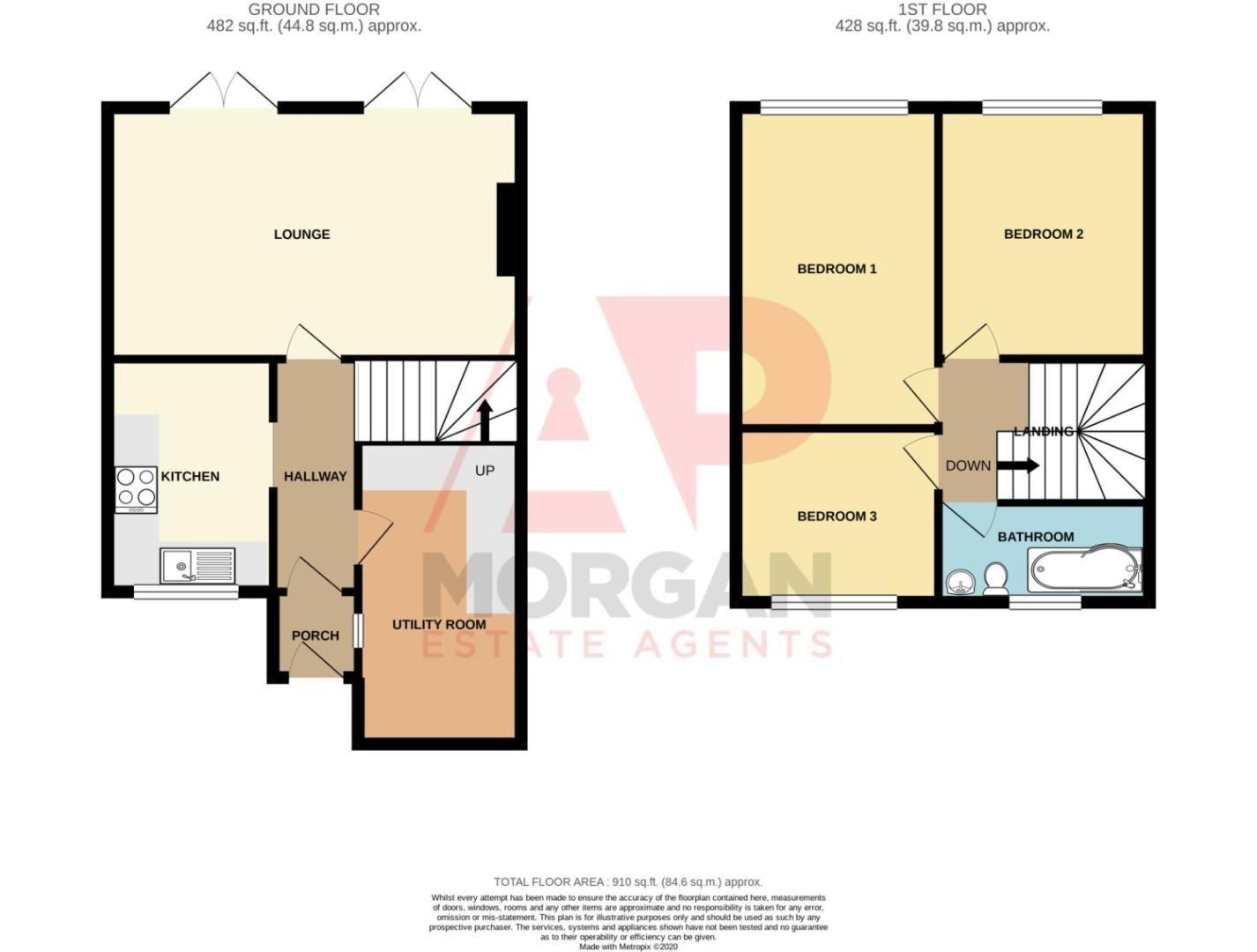 Semi-detached for sale in Kestrel Road, Halesowen - Property Floorplan