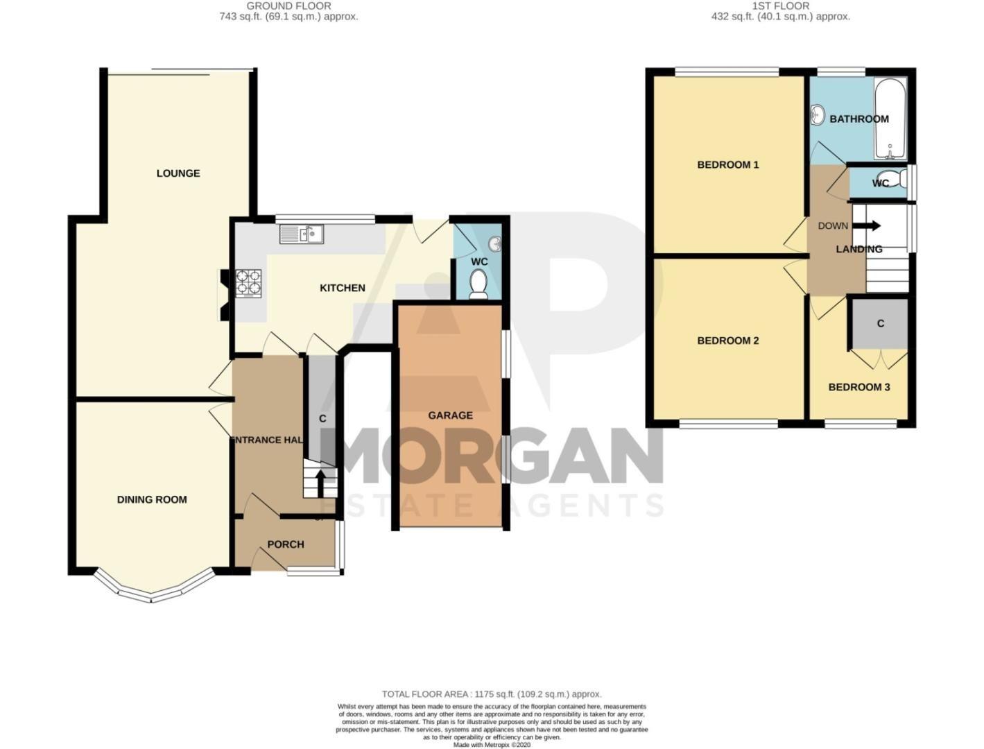 3 bed semi-detached for sale in High Haden Crescent, Cradley Heath - Property Floorplan