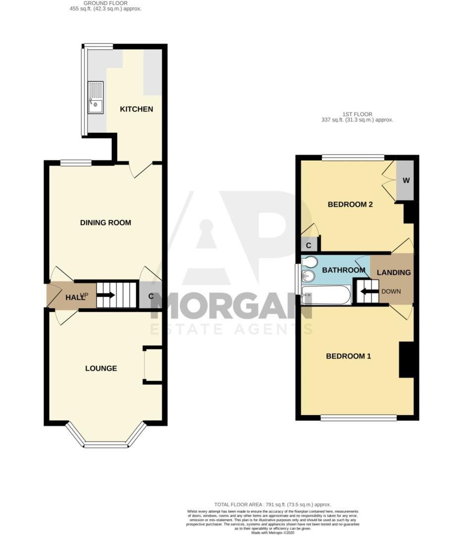 2 bed semi-detached for sale in Oak Park Road, Amblecote - Property Floorplan