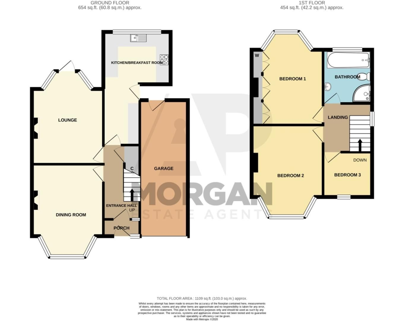 3 bed semi-detached for sale in Howley Grange Road, Halesowen - Property Floorplan