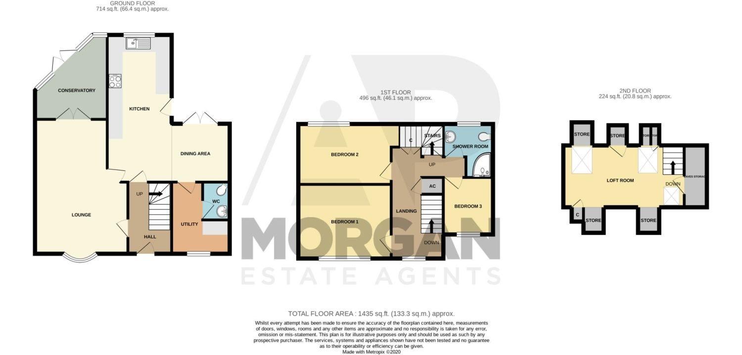 4 bed semi-detached for sale in Oak Street, Kingswinford - Property Floorplan