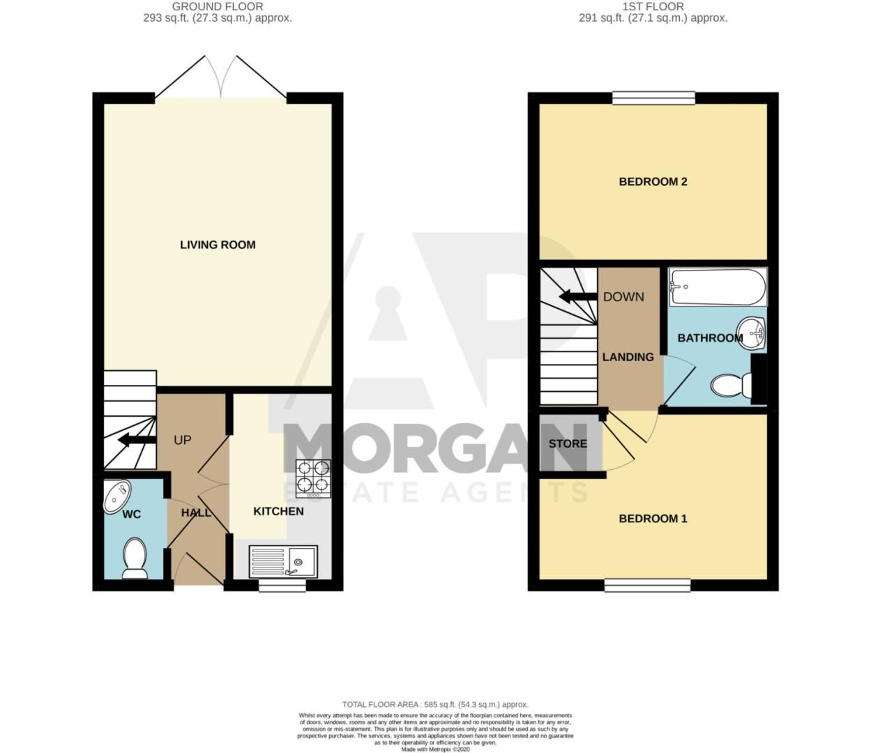 2 bed semi-detached for sale in Bobeche Place, Kingswinford - Property Floorplan