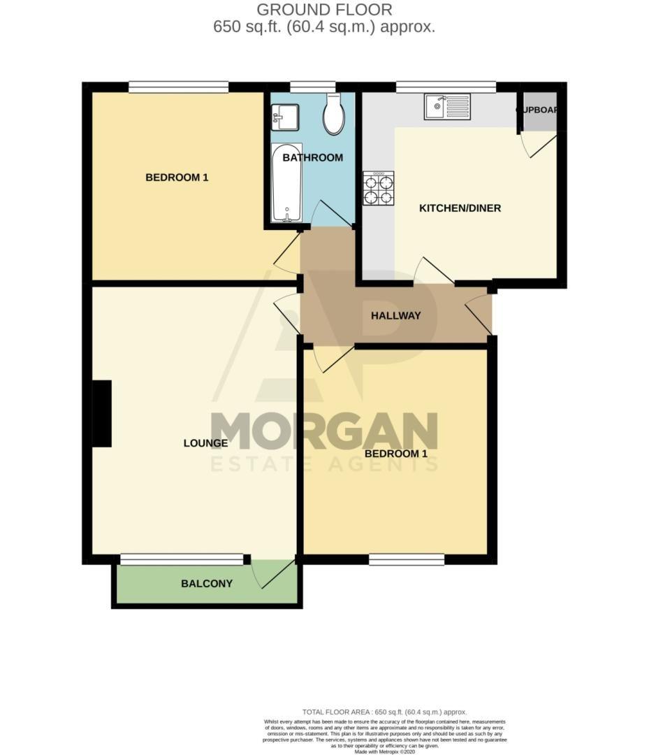 2 bed flat for sale in Malvern Avenue, Stourbridge - Property Floorplan