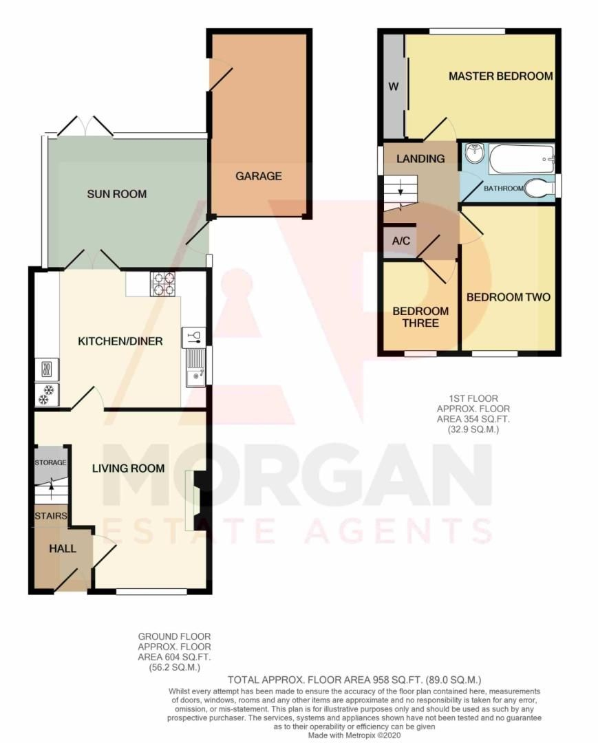 3 bed detached for sale in Painswick Close, Oakenshaw - Property Floorplan