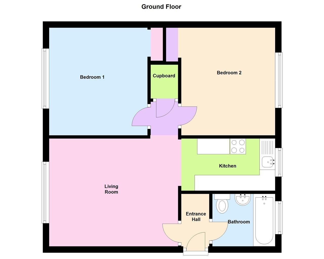 2 bed flat for sale in Farleigh Road, Pershore - Property Floorplan