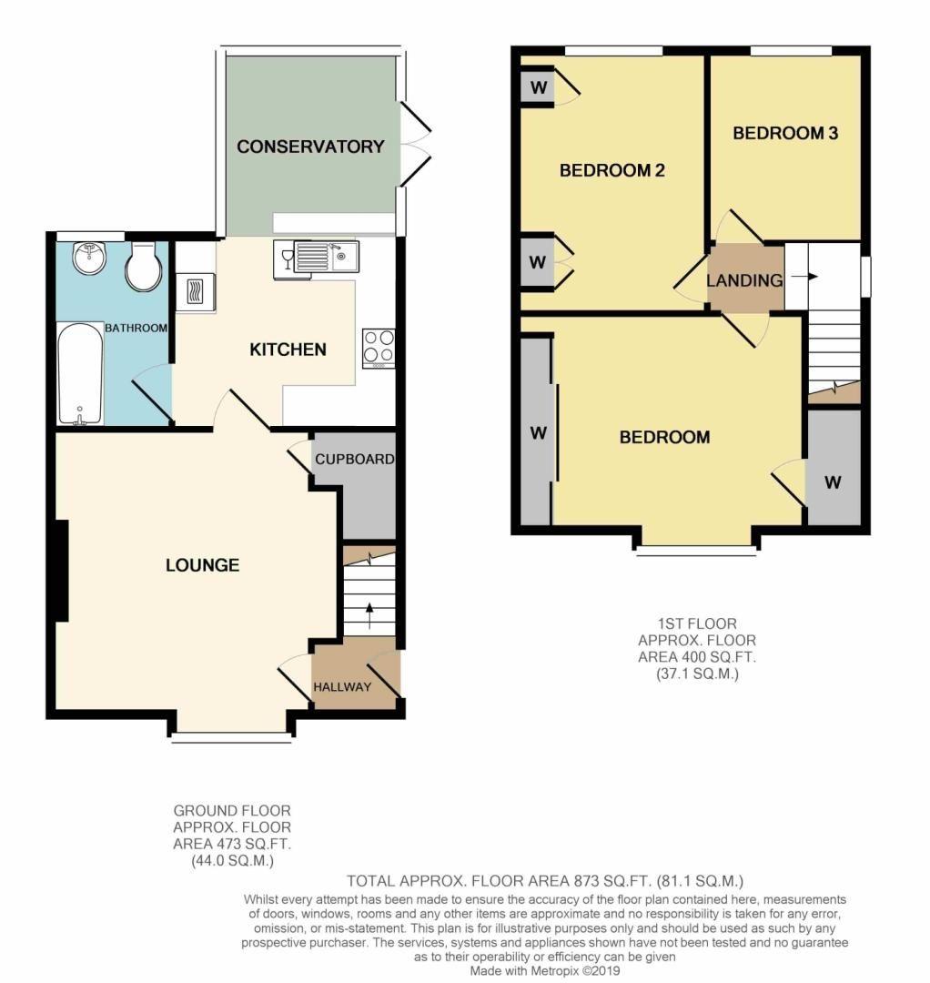 3 bed semi-detached for sale in Harvington Road, Weoley Castle, Selly Oak Birmingham B29 - Property Floorplan