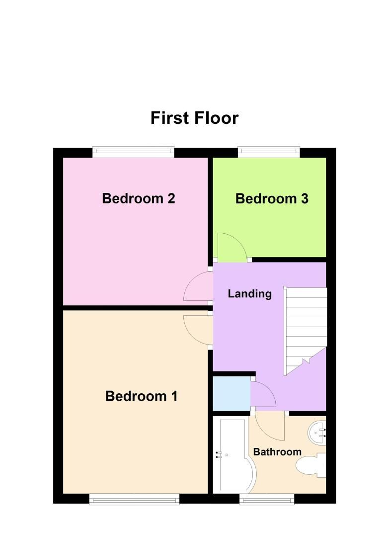 3 bed house for sale in Bickington Lodge Estate - Property Floorplan