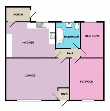 2 bed bungalow to rent in Church Close - Property Floorplan
