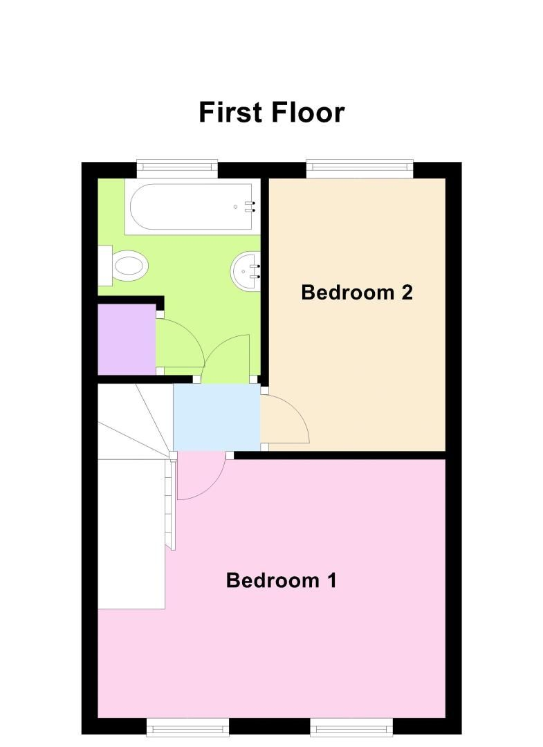 2 bed house for sale in Meadow Park - Property Floorplan