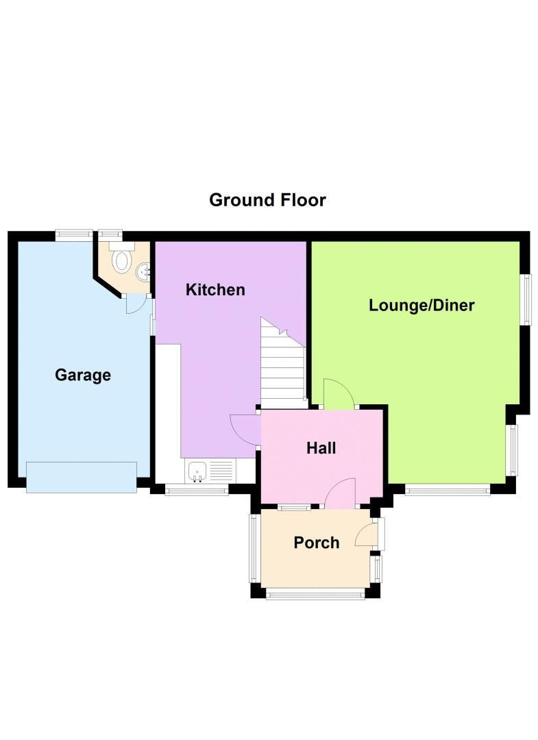 2 bed house for sale in Clinton Terrace - Property Floorplan