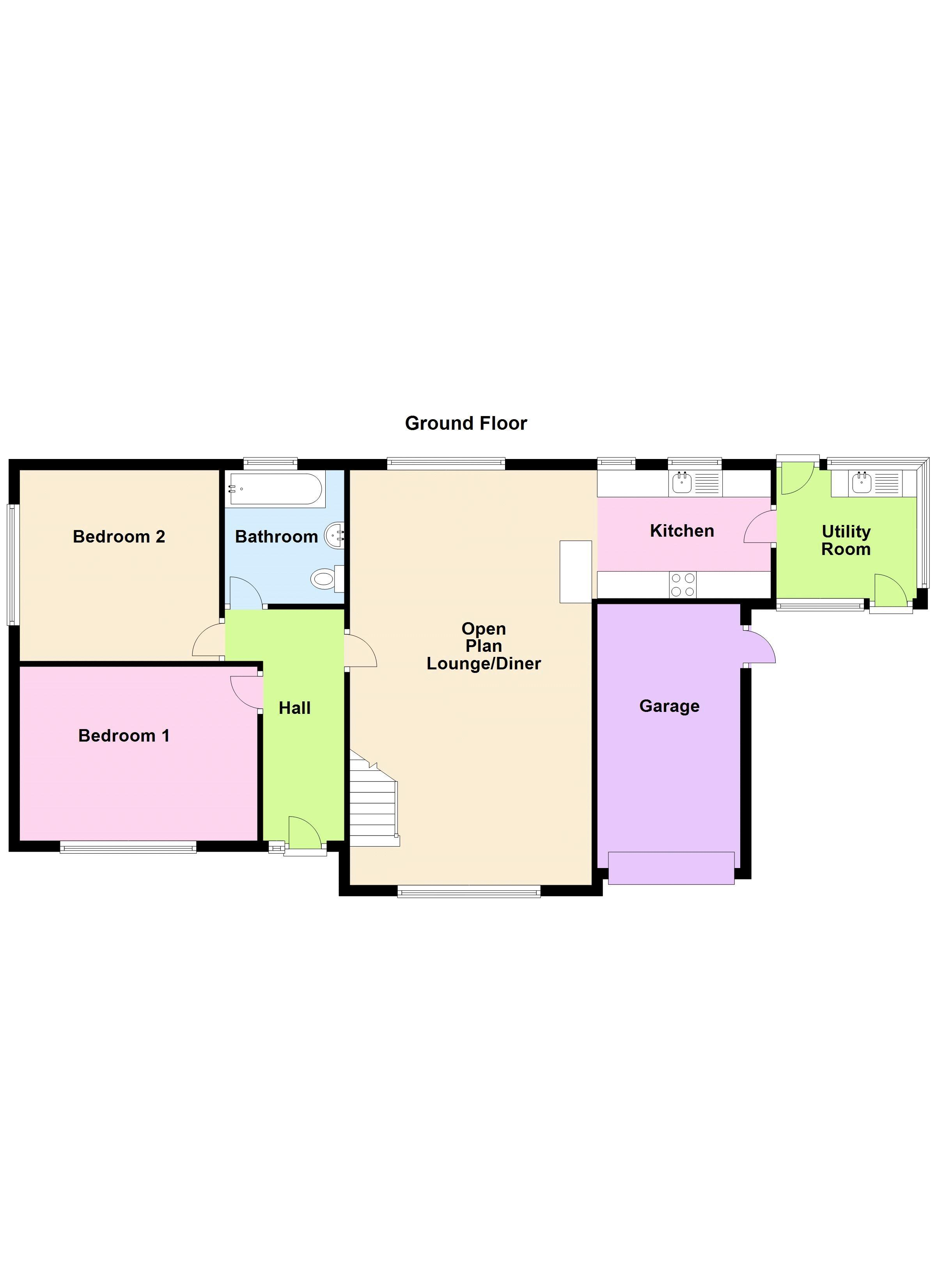 4 bed bungalow for sale in Stanbury Road - Property Floorplan