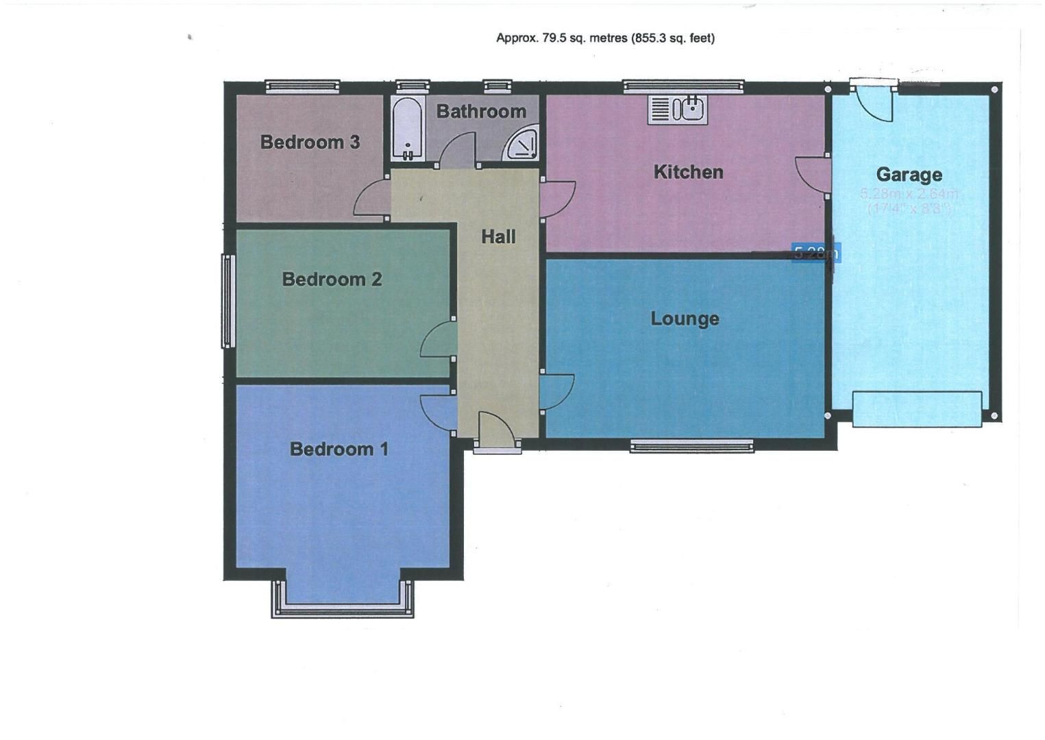 3 bed bungalow for sale in Ravelin Manor Road - Property Floorplan