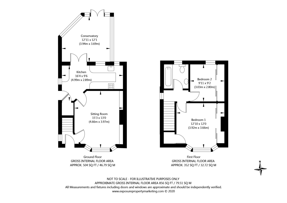 2 bed house for sale in Shirley Avenue, York - Property Floorplan