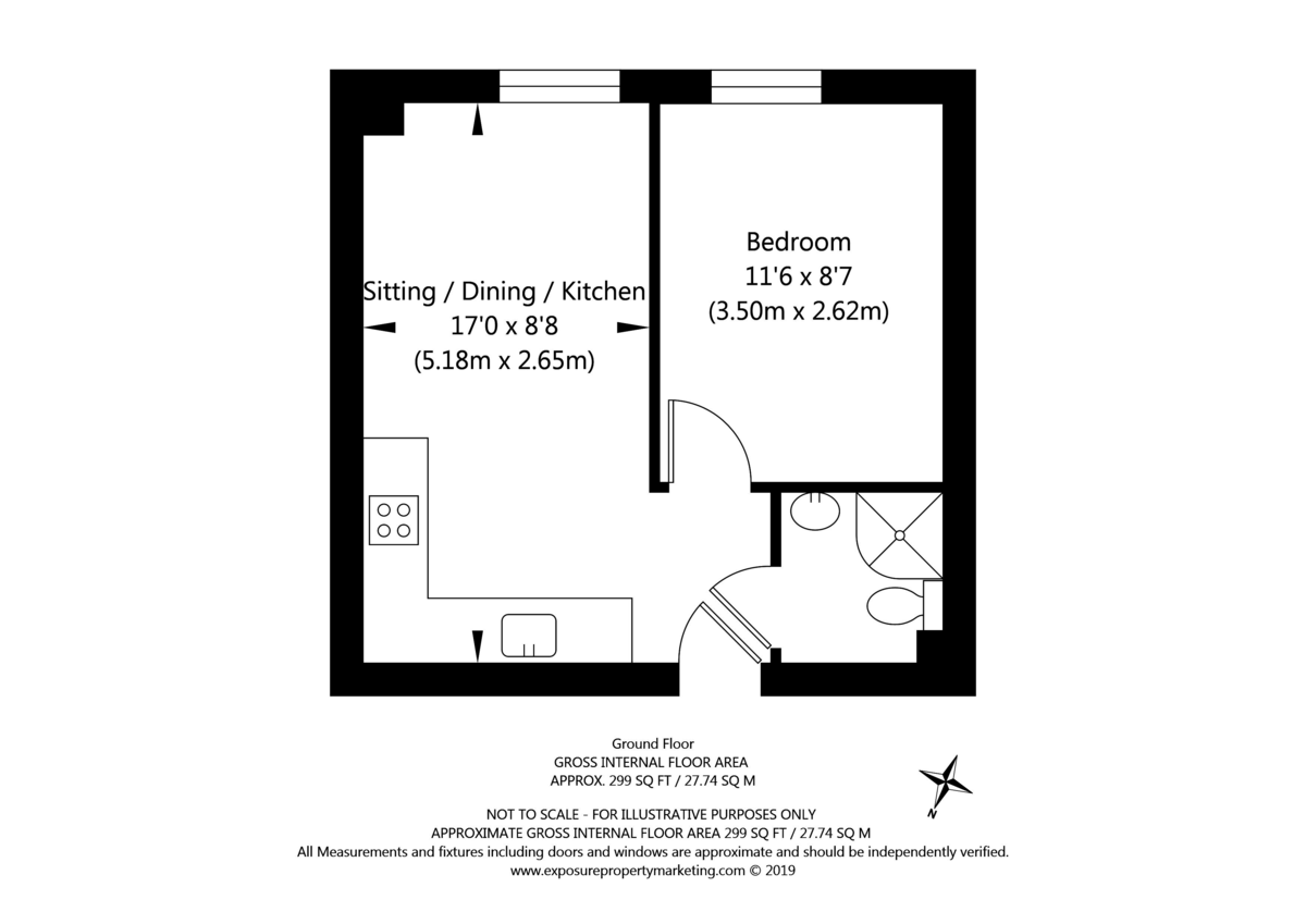 1 bed flat for sale in Foss Place, Foss Islands Road, York - Property Floorplan