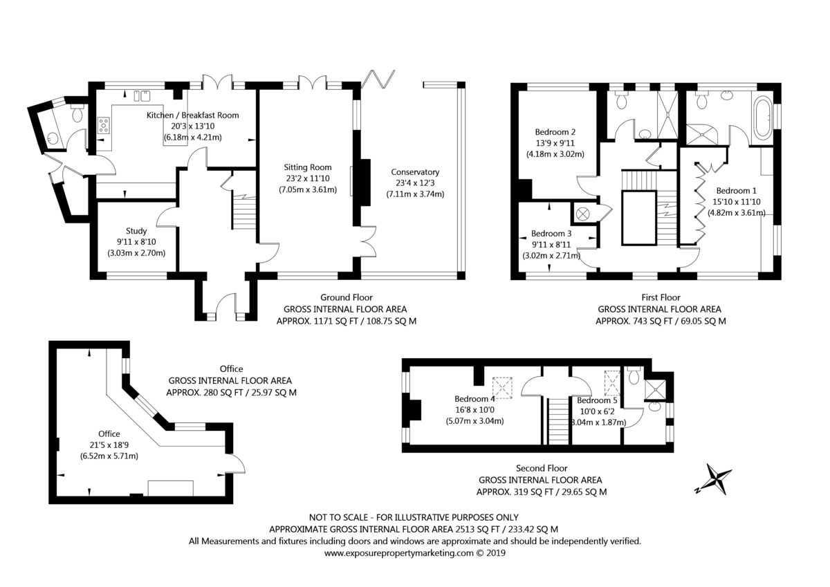 5 bed house for sale in Pump Alley, Bolton Percy - Property Floorplan