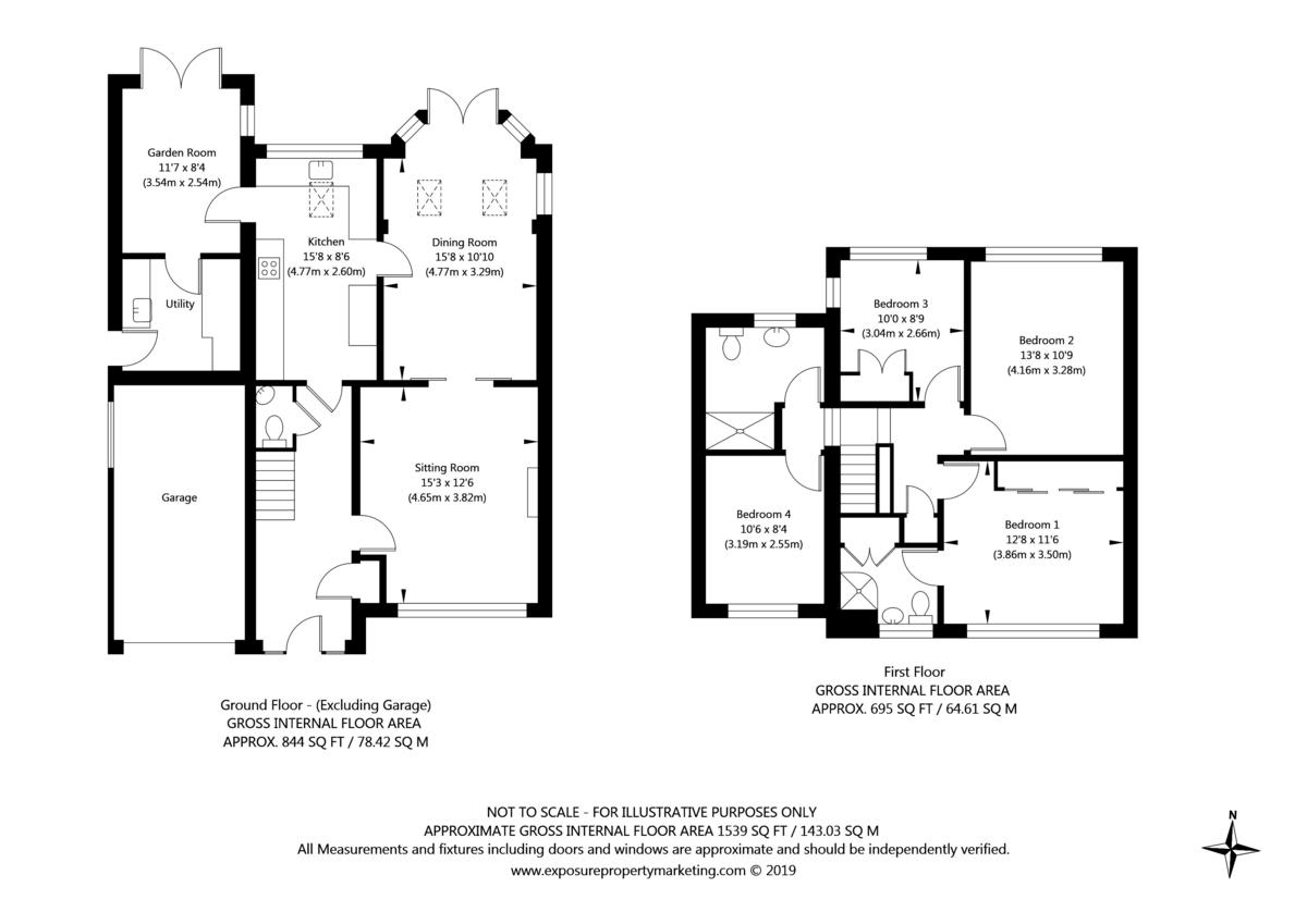 4 bed house for sale in Back Lane, Bilbrough, York - Property Floorplan