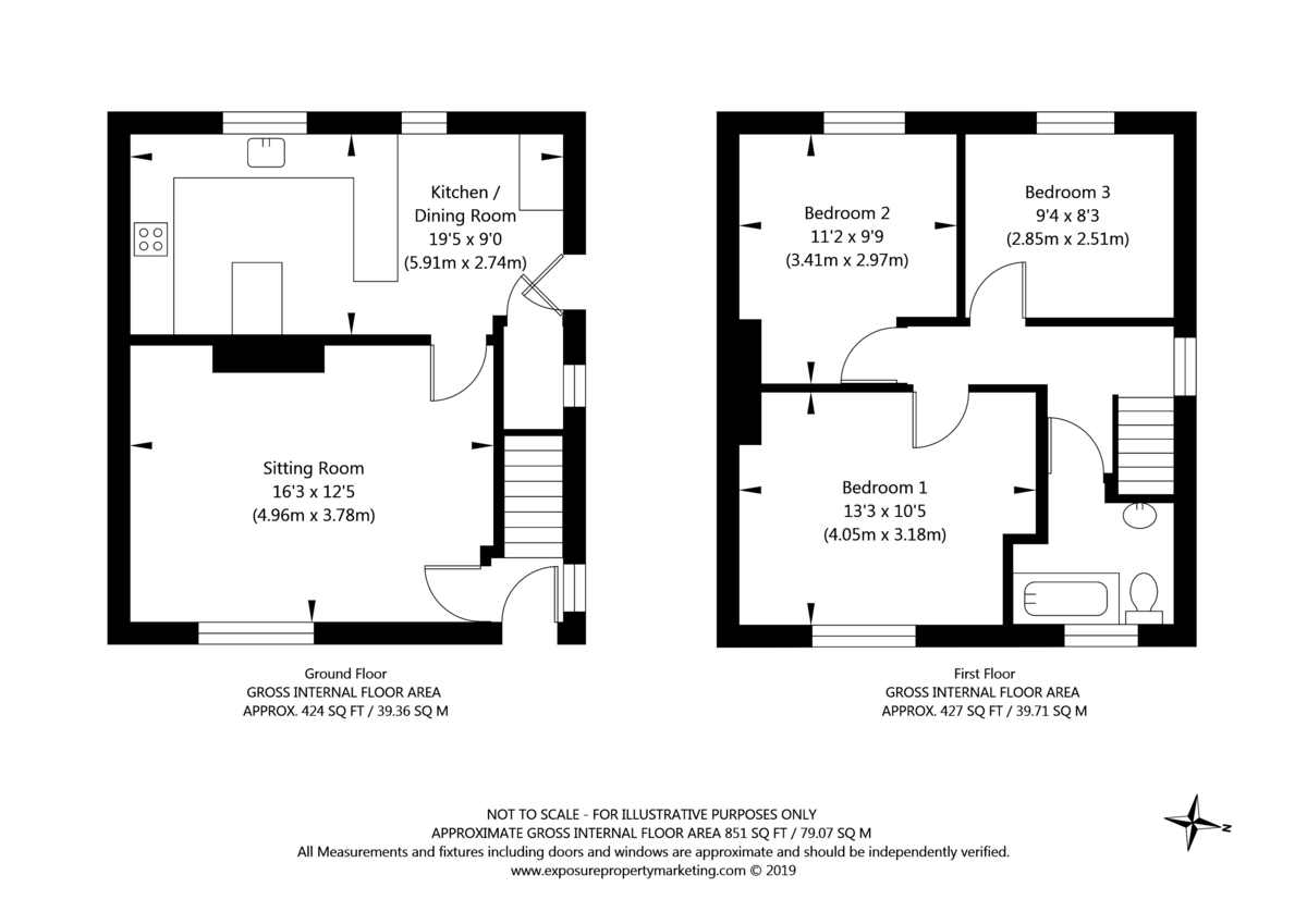 3 bed house for sale in Auster Bank Road, Tadcaster - Property Floorplan